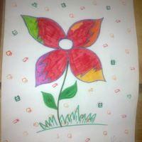 Детский рисунок цветочек