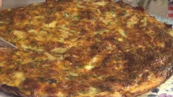 рецепт пирога из сырого картофеля